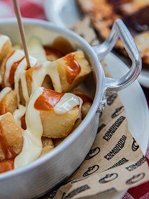 Patatas bravas del Restaurante Pomodoro de Quadernillos
